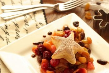 Spiced Winter Fruit Compote w/Raisin Balsamic Syrup|Craving Something Healthy