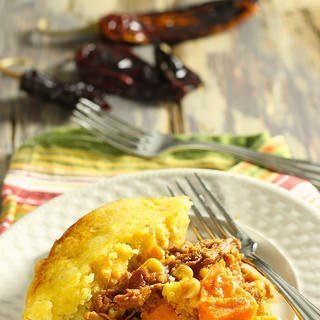 Slow Cooker Smoky Barbecue Chicken Pot Pie with Cornbread Crust {Recipe ReDux}