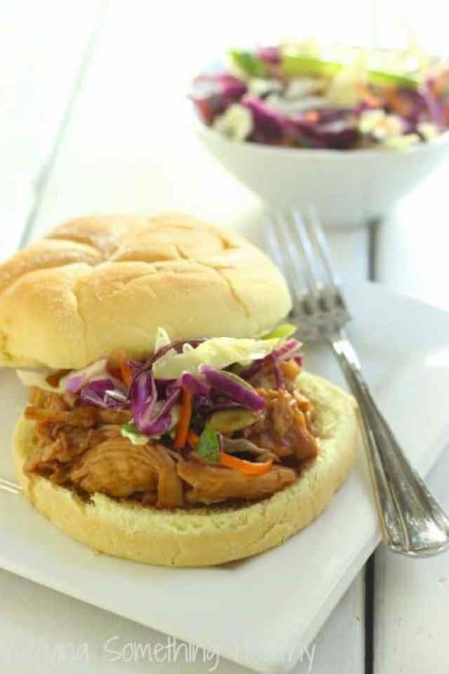 Cranberry Asian Barbecue Chicken Sandwiches|Craving Something Healthy
