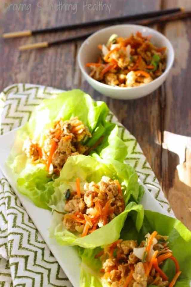 Asian Chicken Lettuce Wraps|Craving Something Healthy