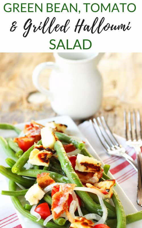 Summer Green Bean and Tomato Salad with Grilled Halloumi |Craving Something Healthy