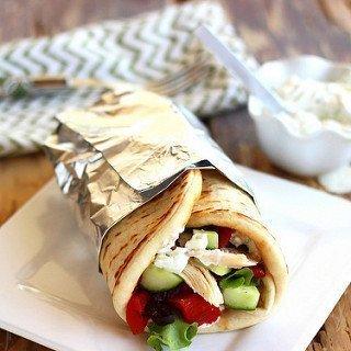 Greek Chicken Gyros with Tzatziki Sauce {Recipe ReDux}