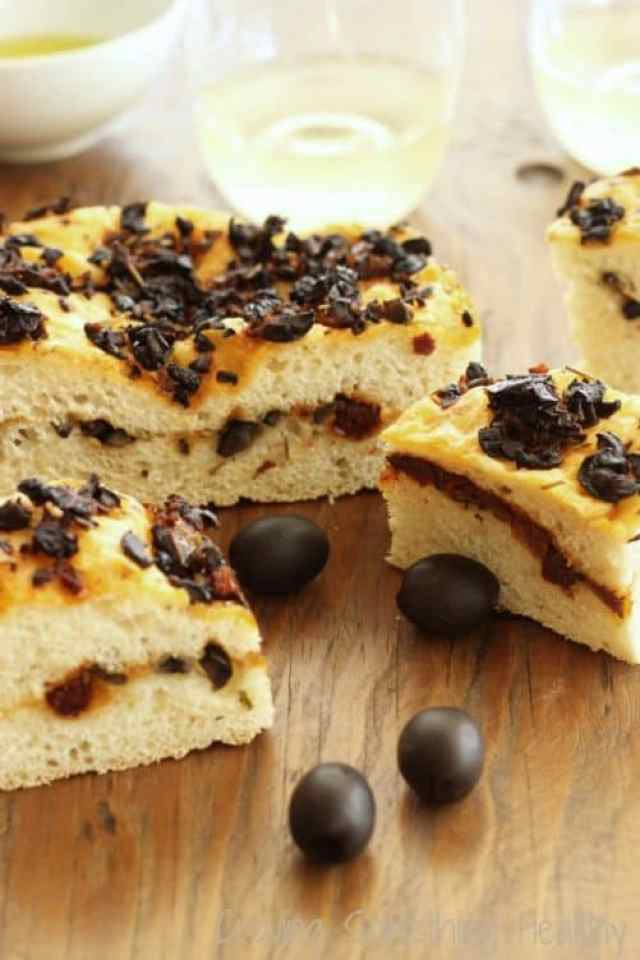 Black Olive and Sun Dried Tomato Focaccia|Craving Something Healthy