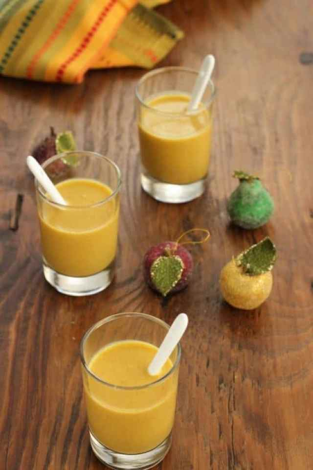 Spiced Pumpkin Bisque Shooters|Craving Something Healthy