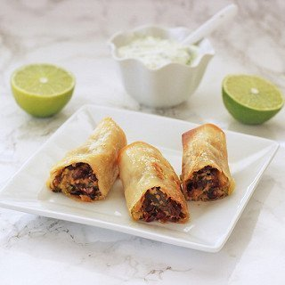Baked Avocado Black Bean Egg Rolls
