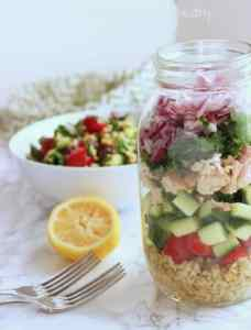 Tuna & Freekeh Tabouli Salad|Craving Something Healthy