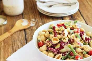 Farmers Market Pasta Salad with Lemon Buttermilk Dressing Craving Something Healthy