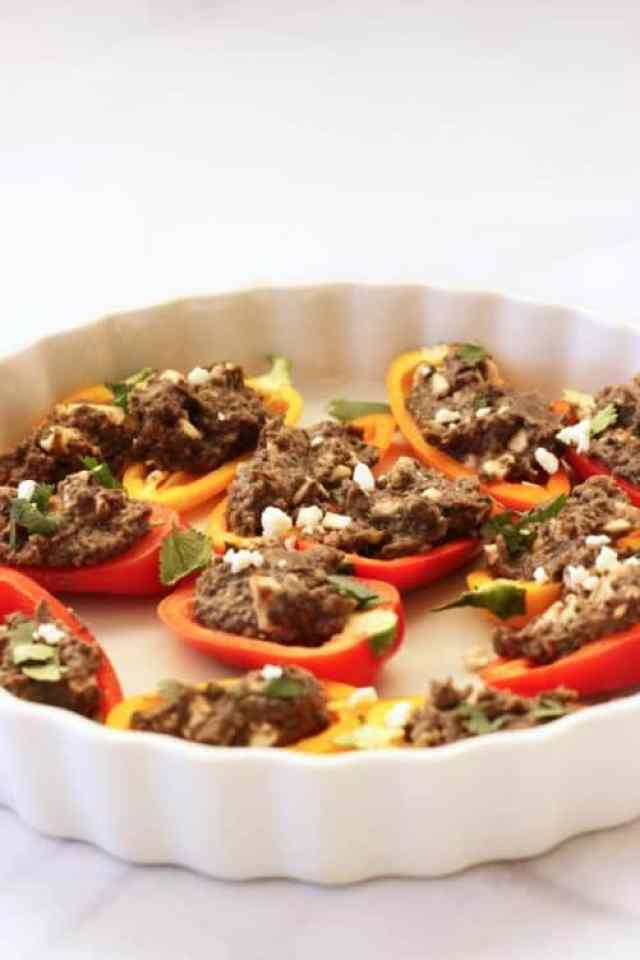 Southwest Stuffed Mini Sweet Peppers|Craving Something Healthy