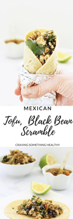 Mexican Tofu and Black Bean Scramble|Craving Something Healthy