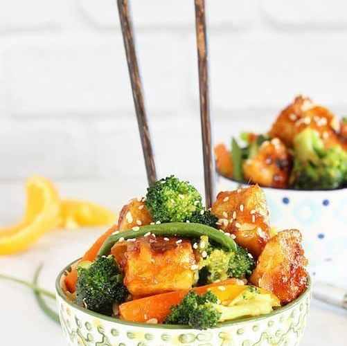 General Tso's Tofu with Vegetables