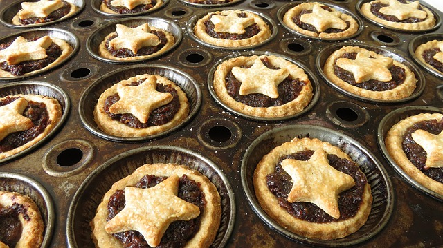 mince pies during christmas celebration in south africa