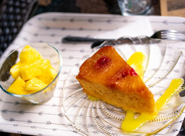 The fantastic Upside-Down Pineapple Cake at the Azorean Pineapple Plantation