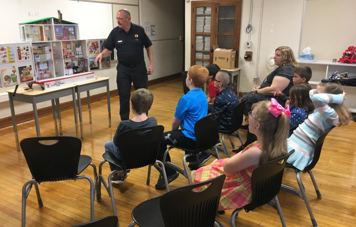 Elementary Students Learn Fire Safety