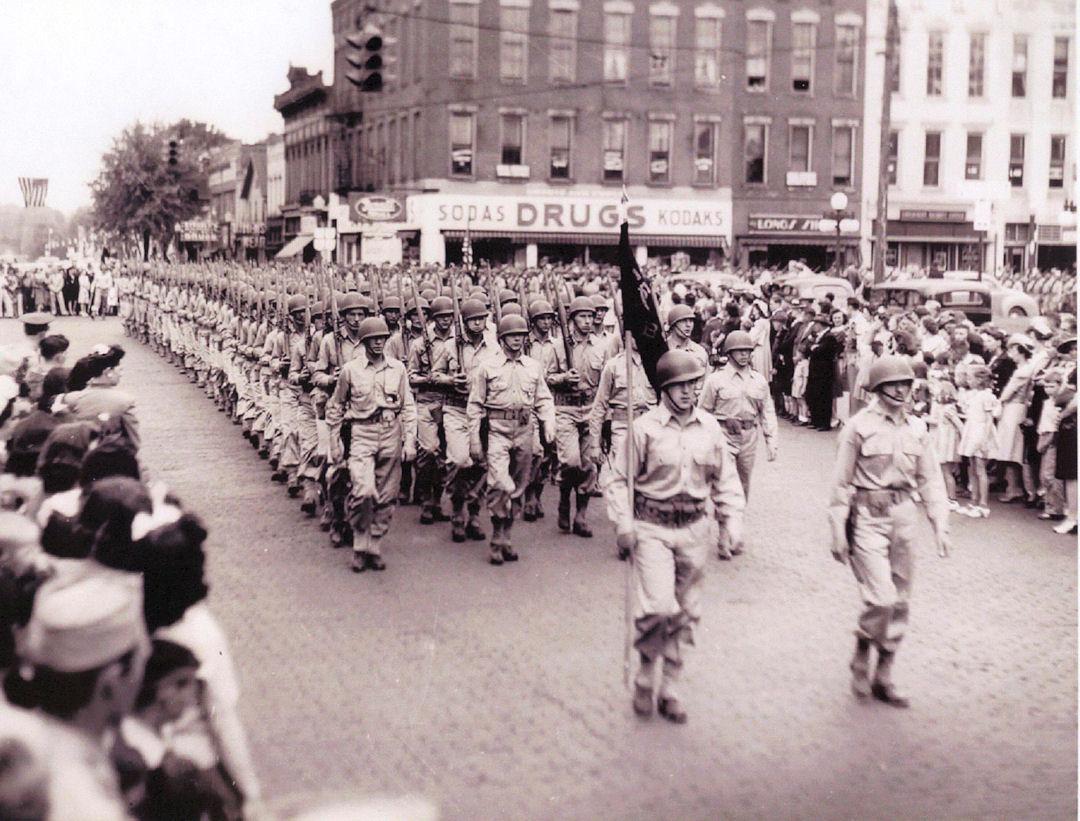 Camp Millard Troops on Parade