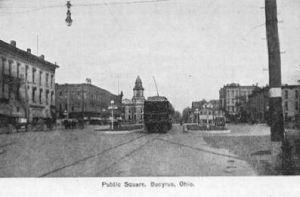 Interurban in Bucyrus Ohio 1917 to 1922