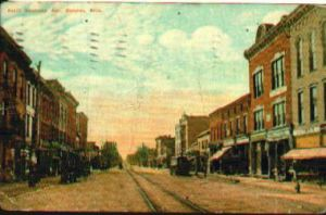 Frances Reiter Remembers Sandusky Ave Looking toward Rensselaer St. Bucyrus Ohio