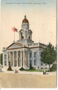 The Crawford County Courthouse as it looked in 1910