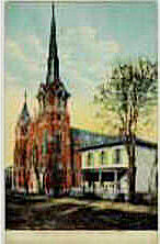 Holy Trinity Catholic Church in 1909 Bucyrus Ohio