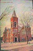 1915 First Methodist Church, corner East Warren and South Walnut Streets, Bucyrus