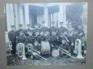 This is a photo identified as the Bucyrus-Crawford County Band. Can anyone identify the band members and where and when this was taken?