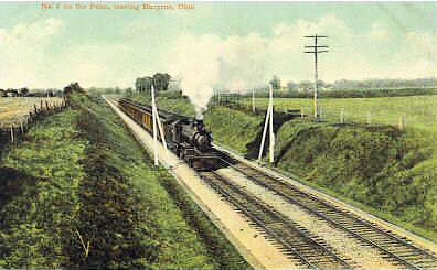 Engine #6 Leaves Bucyrus Ohio in 1910