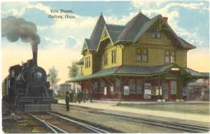 Erie RR Depot ca. 1910 in Galion Ohio (Source Internet)
