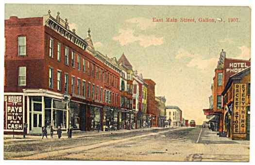 1907 E Main Street showing Hotel Phoenix, Galion (source: Internet)