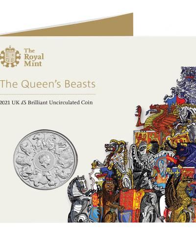 2021 Queen's Beast Completer £5 BU