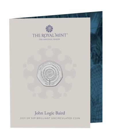 2021 John Logie Biard 50p BU
