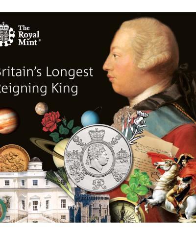 2020 Britain's Longest Reigning King £5 BU
