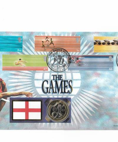 2002 XVII Commonwealth Games (England) Uncirculated £2 Coin Cover