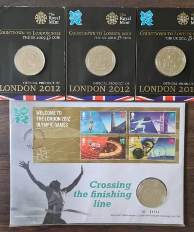2009-2012 Countdown to London Olympic £5 BU Set