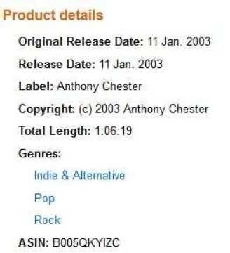 Chester False Copyright