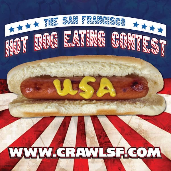 Hot Dog Eating Contest in San Francisco