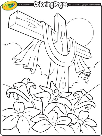 Cross Coloring Page : cross, coloring, Easter, Cross, Coloring, Crayola.com