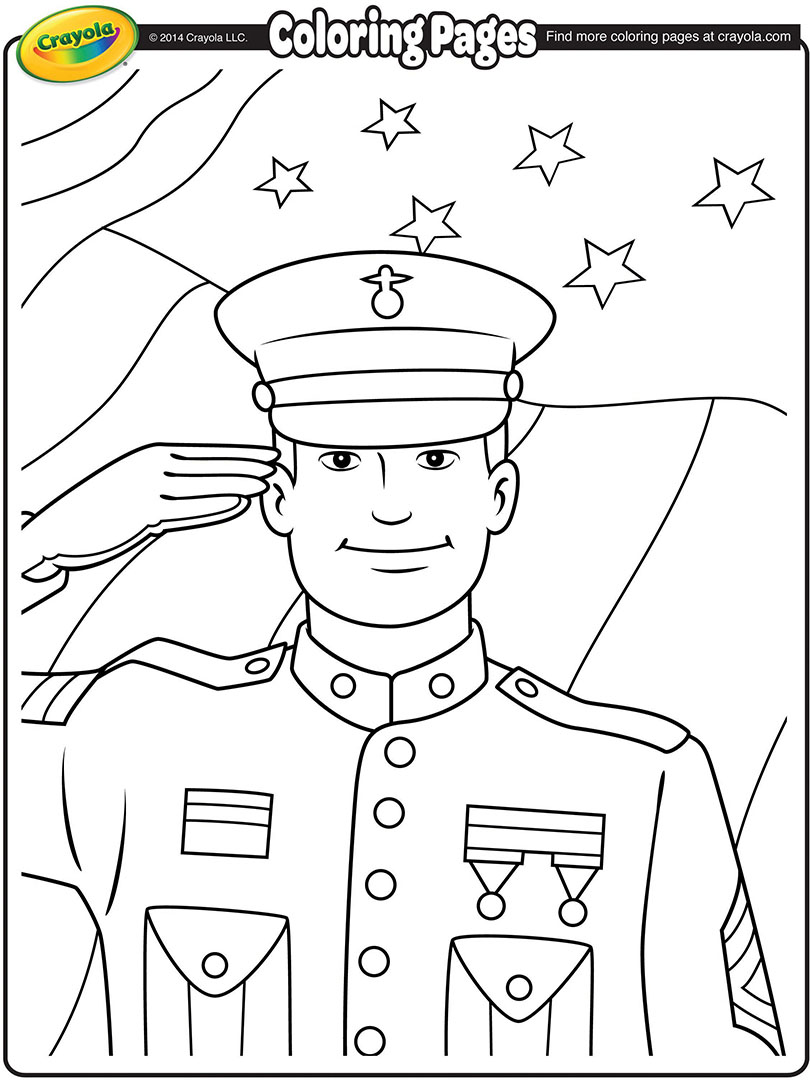 Thank You Veterans Coloring Pages : thank, veterans, coloring, pages, Veterans, Coloring, Pages, Crayola.com
