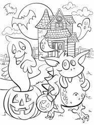 haunted coloring halloween pages crayola cute colouring printable sheets adults print getcoloringpages scary monster hundertwasser witch template fall fun printables