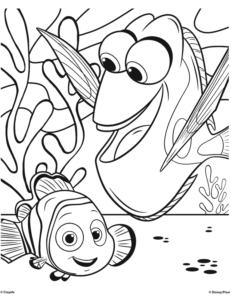 Dory Coloring Pages : coloring, pages, Finding, Coloring, Pages, Crayola.com