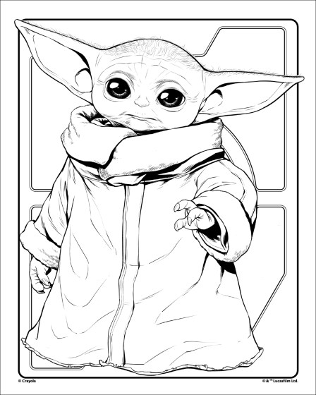 Free Baby Yoda Coloring Pages : coloring, pages, Grogu, Crayola.com