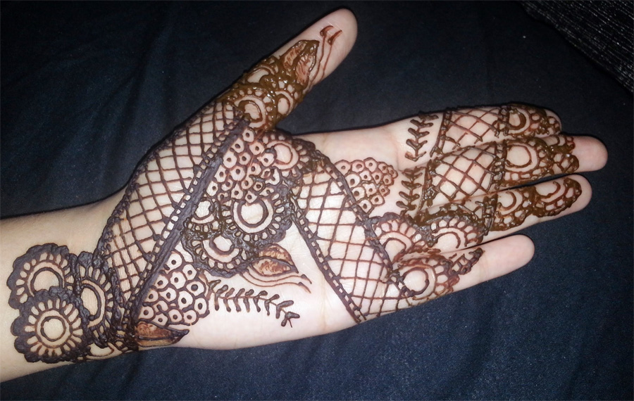 Mehndi Design Arabic Easy For Front Hand Simple