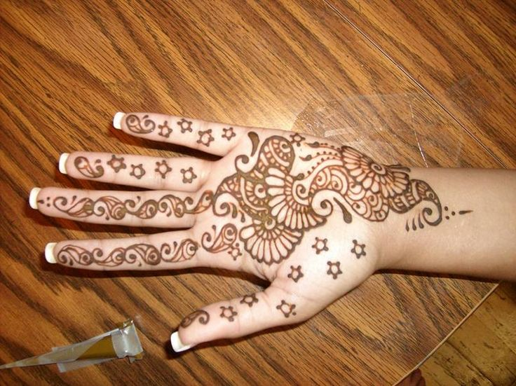 Simple Mehndi Designs 2017 For Kids
