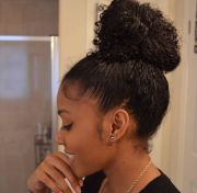 awesome bun hairstyles girls