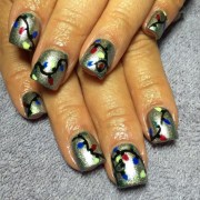silver christmas nail design ideas