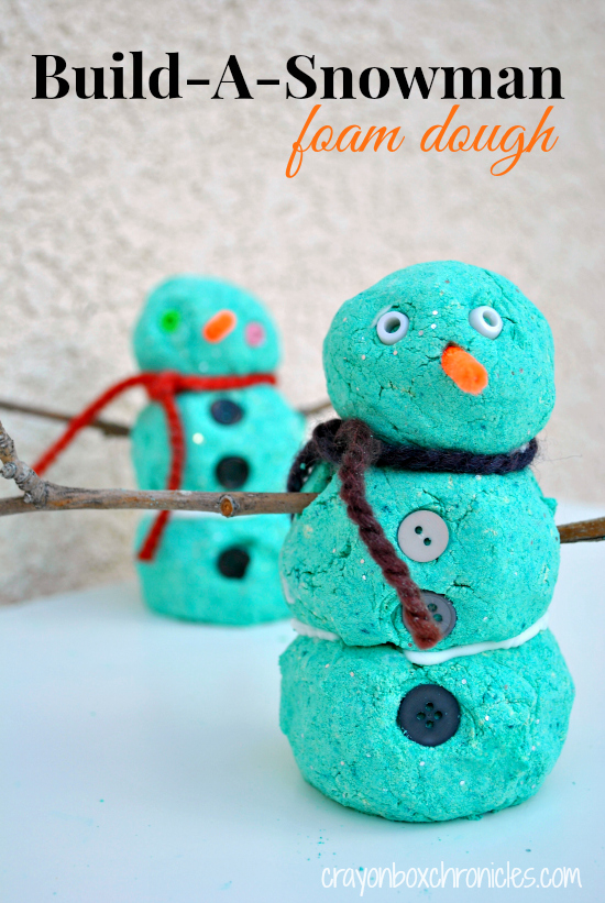 Build A Snowman Foam Dough Crayon Box Chronicles