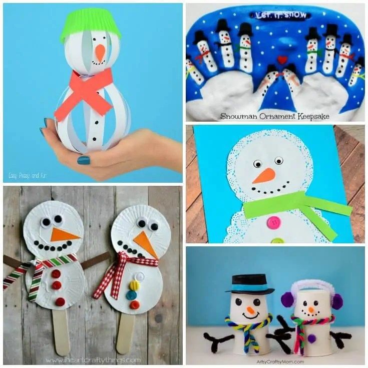 Cute Snowman Crafts For Kids To Make This Winter
