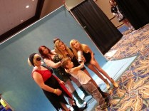 Brighton Sharbino & Kyla Kennedy cutting up with fans