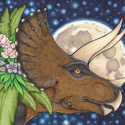 Full Moon Triceratops