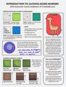 Color Key for Marker Class Worksheet1