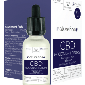 A bottle of Melatonin Good Night Drops - Naturefine+