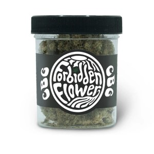 A container of CBG CBD Forbidden Flower by Urth CBD